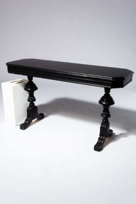 Alternate view 1 of Nickel Black Console Table