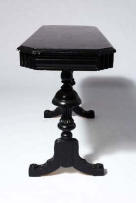 Alternate view 2 of Nickel Black Console Table
