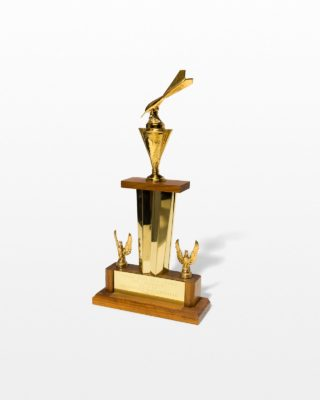 Front view of Carson Trophy