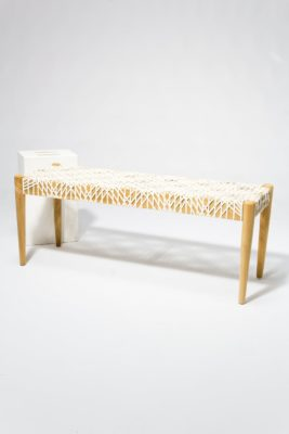 Alternate view 2 of Mandy Woven Leather Bench