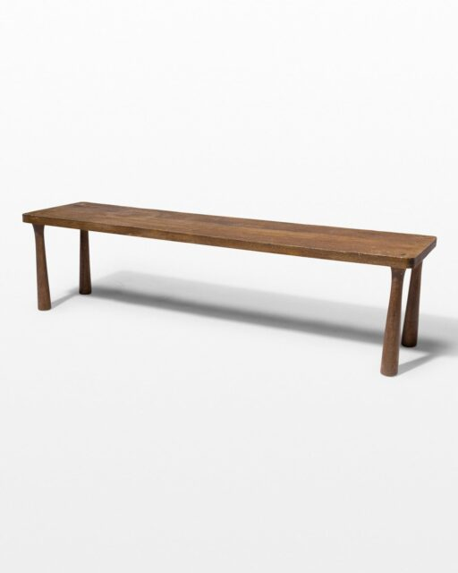 Front view of Willow Classic Wood Bench