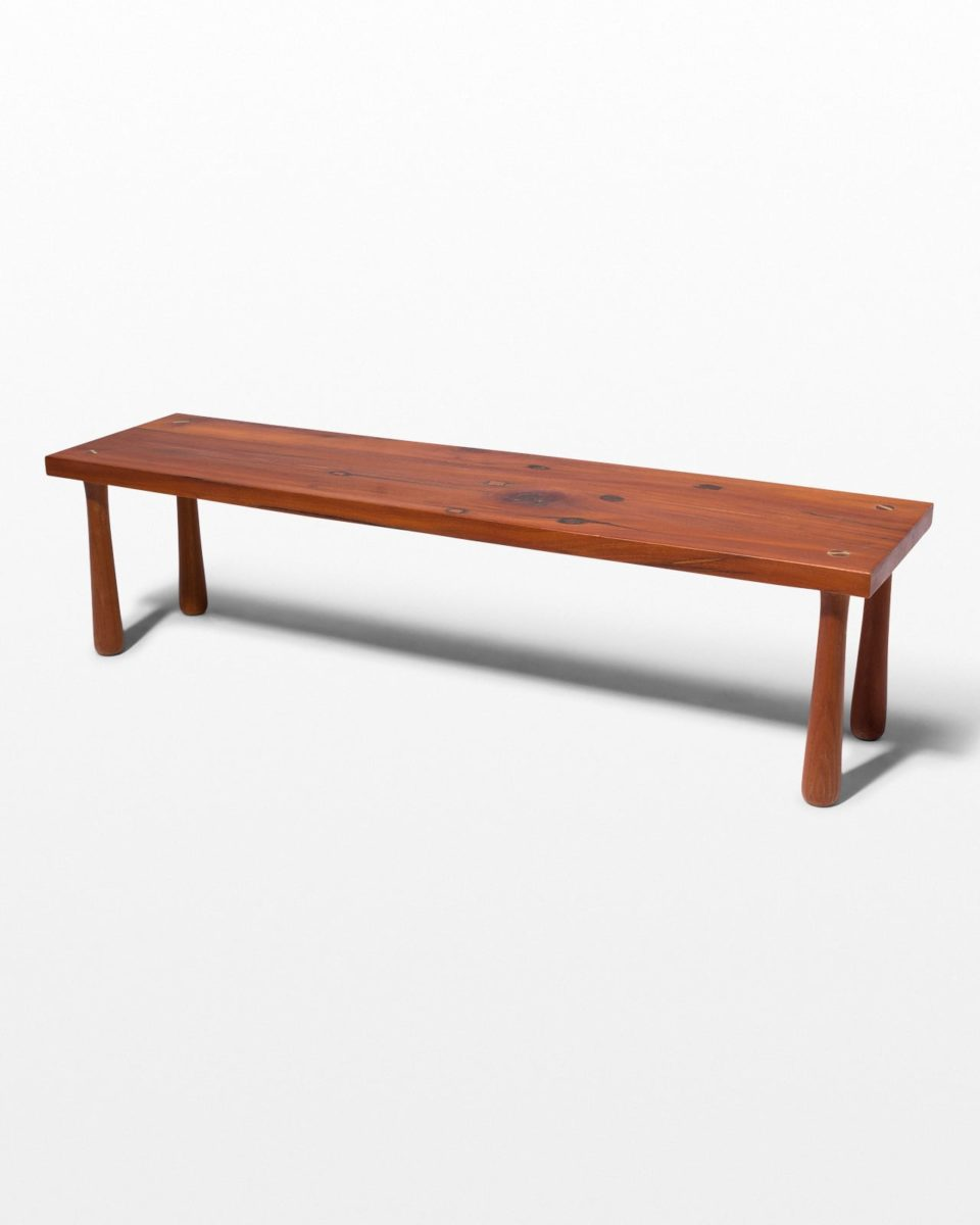 Front view of Martin Wood Bench