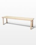Front view thumbnail of Haven Blond Wooden Bench