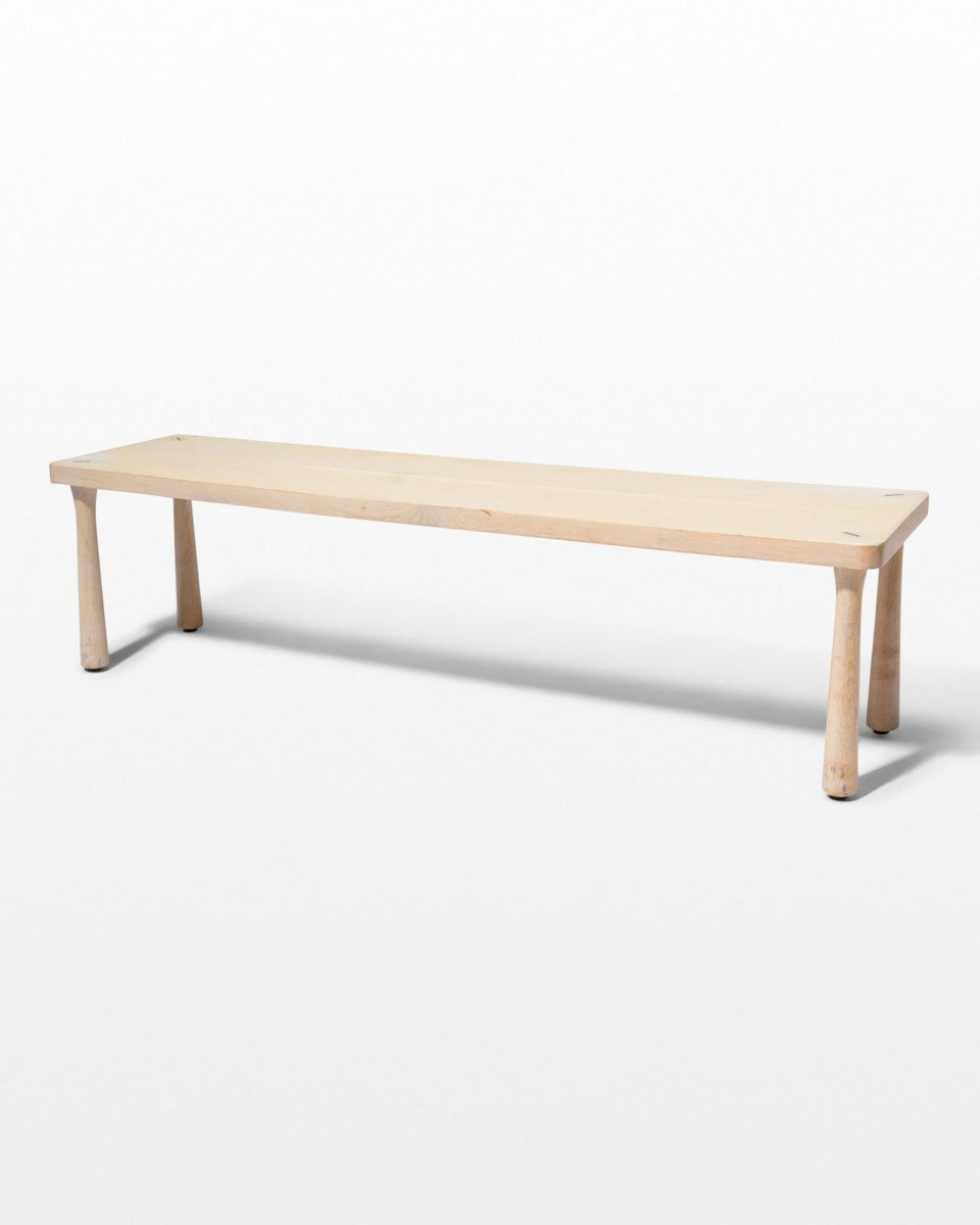 Front view of Haven Blond Wooden Bench