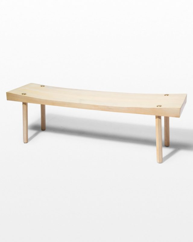 Front view of Basil Natural Blonde Bench