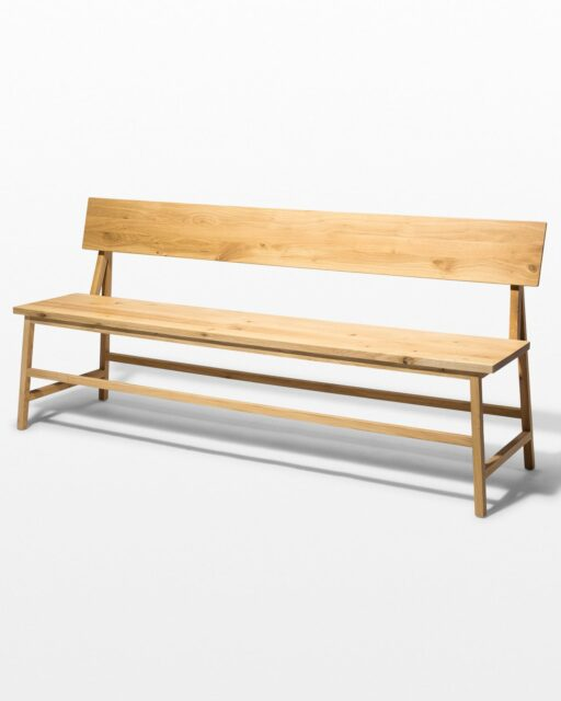 Front view of Randall Oak Bench