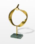 Front view thumbnail of Gold and Marble Ring Sculpture