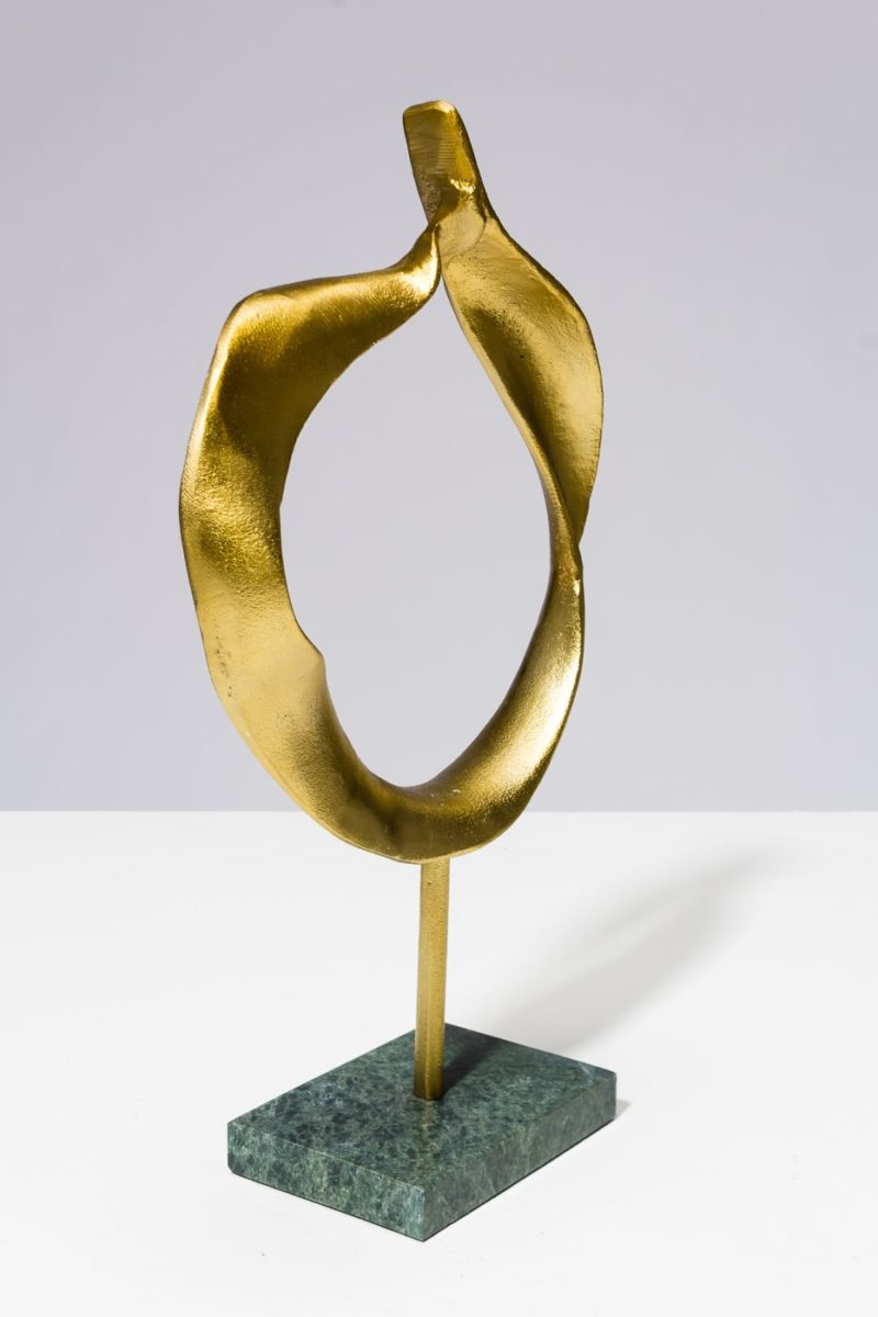 Alternate view 5 of Gold and Marble Ring Sculpture
