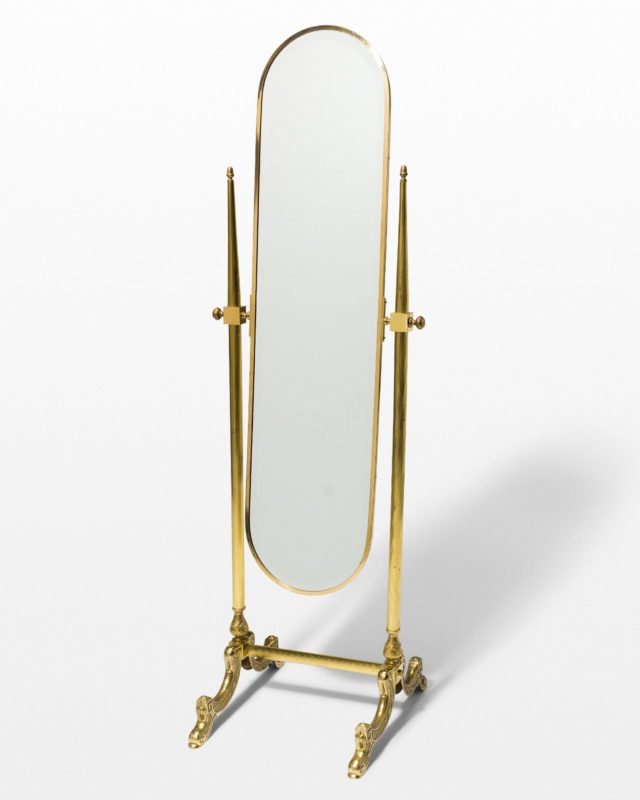 Front view of Marilyn Gold Floor Mirror