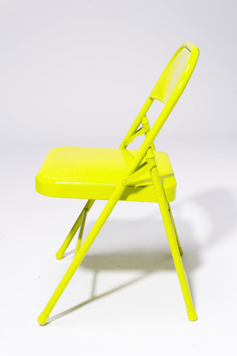 Alternate view 2 of Chartreuse Folding Chair