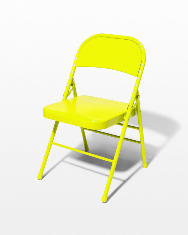 Front view of Chartreuse Folding Chair
