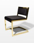Front view thumbnail of Andy Gold and Black Velvet Chair