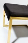 Alternate view thumbnail 2 of Andy Gold and Black Velvet Chair