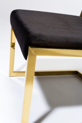 Alternate view 2 of Andy Gold and Black Velvet Chair