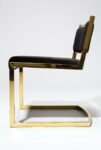 Alternate view thumbnail 4 of Andy Gold and Black Velvet Chair