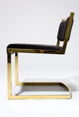 Alternate view 4 of Andy Gold and Black Velvet Chair