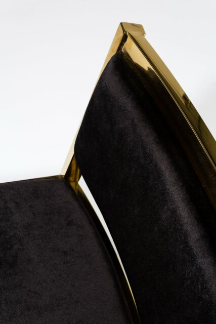 Alternate view 1 of Andy Gold and Black Velvet Chair