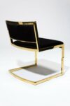 Alternate view thumbnail 5 of Andy Gold and Black Velvet Chair