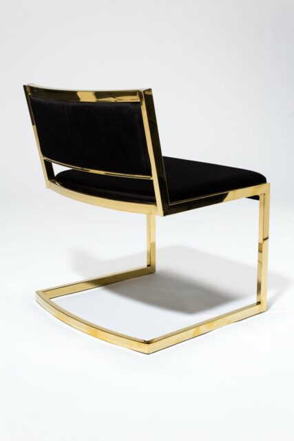 Alternate view 5 of Andy Gold and Black Velvet Chair