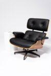 Alternate view thumbnail 2 of Black Eames-Style Lounge Chair and Ottoman