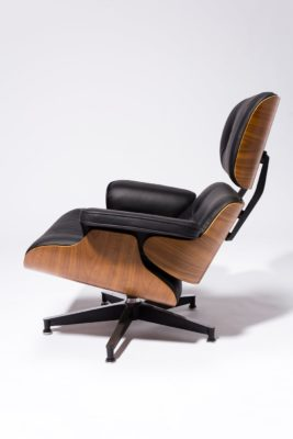 Alternate view 3 of Black Eames-Style Lounge Chair and Ottoman