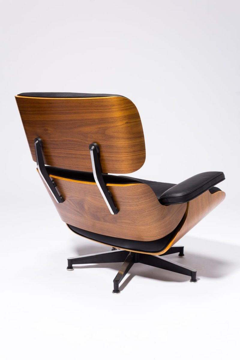 Alternate view 4 of Black Eames-Style Lounge Chair and Ottoman
