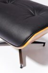 Alternate view thumbnail 5 of Black Eames-Style Lounge Chair and Ottoman
