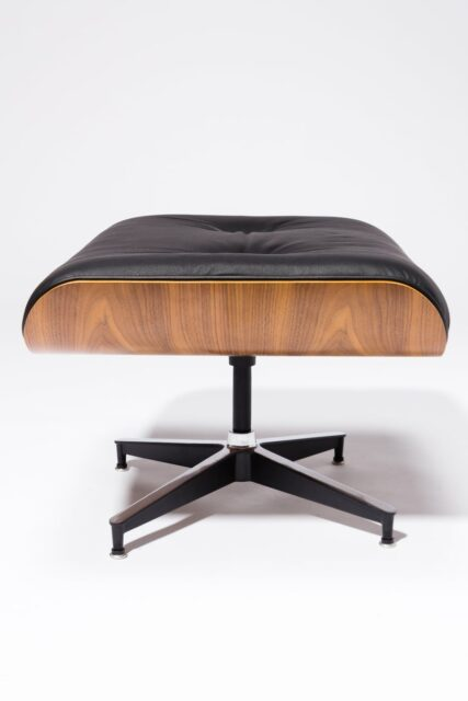 Alternate view 6 of Black Eames-Style Lounge Chair and Ottoman