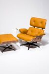 Alternate view thumbnail 3 of Brown Eames-Style Lounge Chair and Ottoman