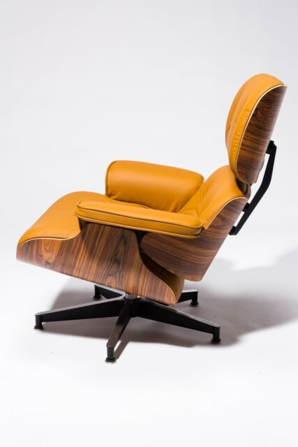 Alternate view 5 of Brown Eames-Style Lounge Chair and Ottoman
