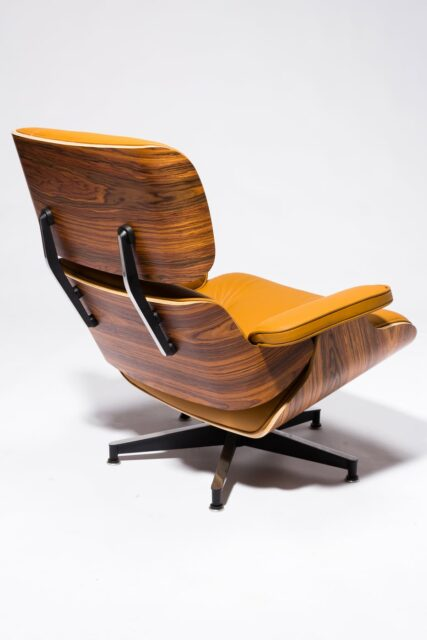 Alternate view 6 of Brown Eames-Style Lounge Chair and Ottoman