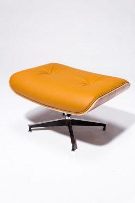 Alternate view 7 of Brown Eames-Style Lounge Chair and Ottoman