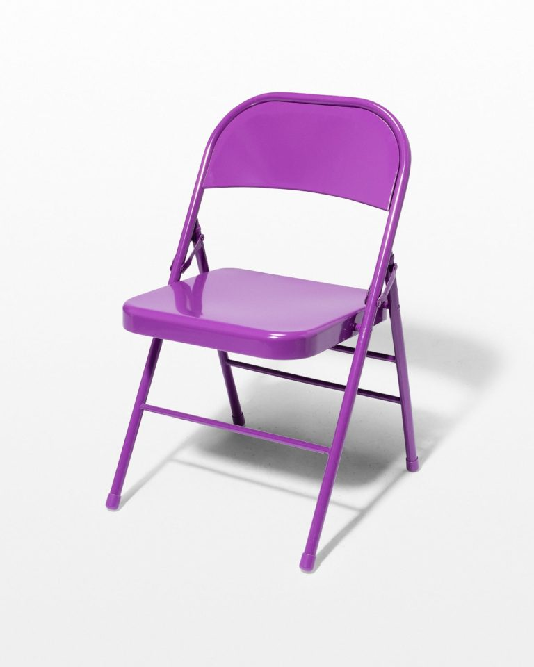 Front view of Purple Folding Chair