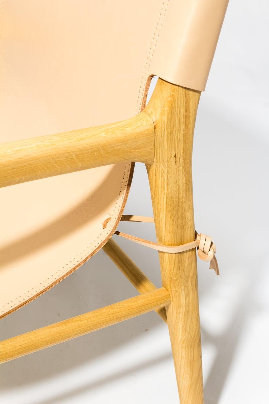 Fantastic Ch601 Cad Blush Leather Sling Safari Chair Prop Rental Cjindustries Chair Design For Home Cjindustriesco