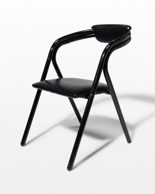 Front view of Chico Black Bend Chair
