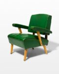 Front view thumbnail of Rory Green Vinyl Armchair