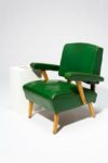 Alternate view thumbnail 2 of Rory Green Vinyl Armchair