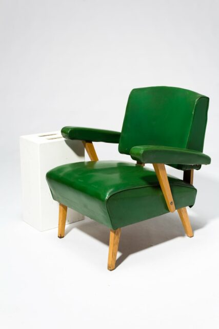 Alternate view 2 of Rory Green Vinyl Armchair