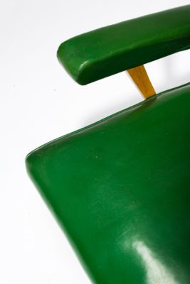 Alternate view 1 of Rory Green Vinyl Armchair