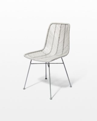 Front view of Lance Grey Rattan Chair
