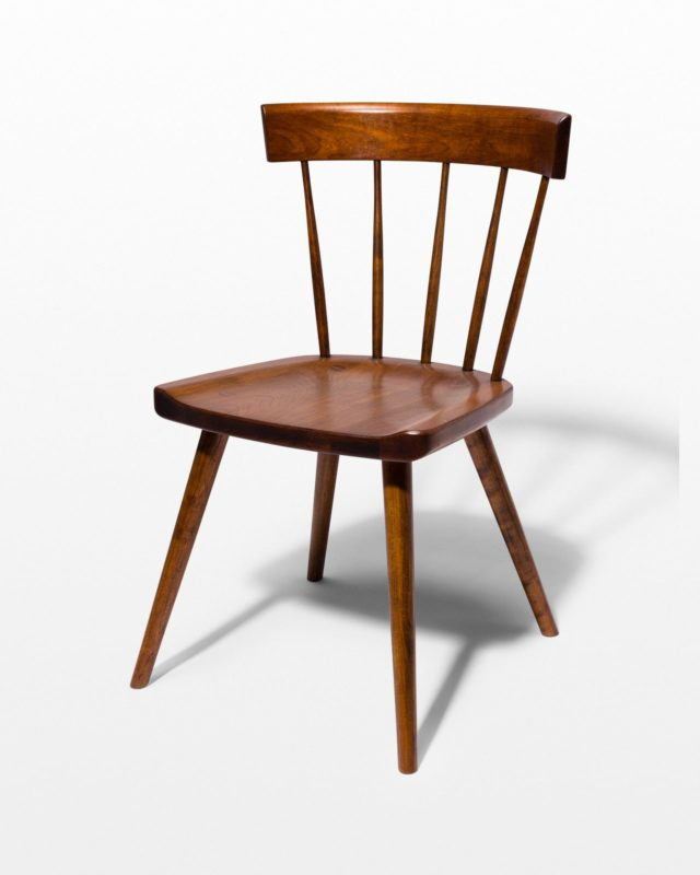 Front view of Irving Cherry Saddle Seat Chair