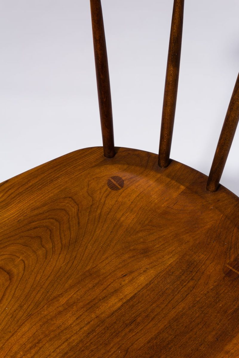 Alternate view 1 of Irving Cherry Saddle Seat Chair