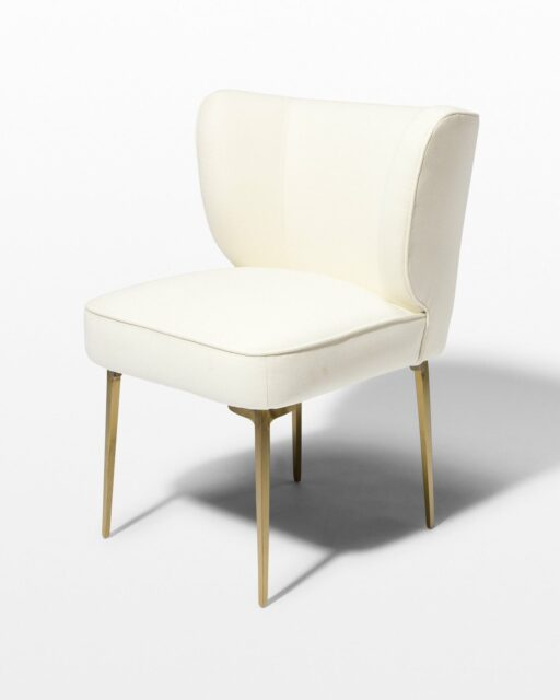 Front view of Lennon Cream Wool Chair