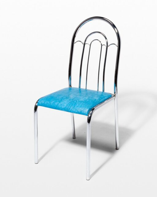 Front view of Brianne Chrome Curve Chair
