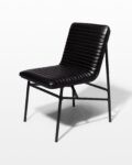 Front view thumbnail of Ace Black Ribbed Leather Chair