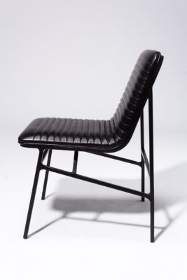 Alternate view 3 of Ace Black Ribbed Leather Chair