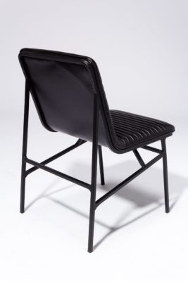 Alternate view 4 of Ace Black Ribbed Leather Chair