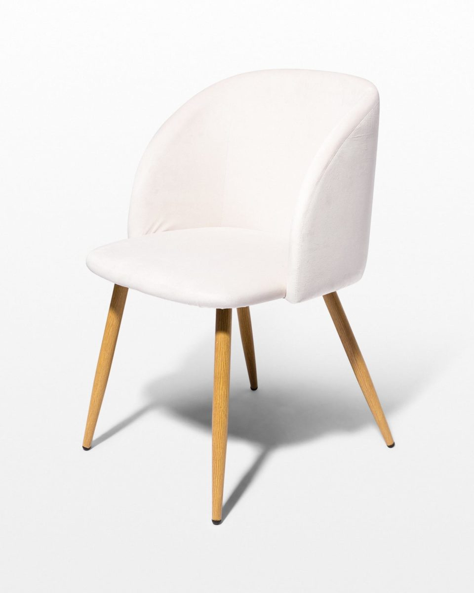 Front view of Ivory Velvet Chair