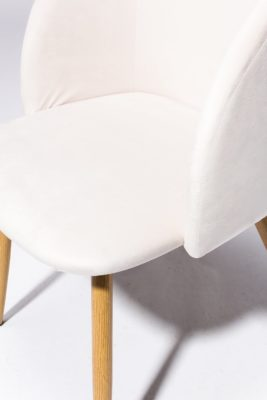 Alternate view 1 of Ivory Velvet Chair