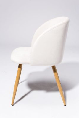Alternate view 3 of Ivory Velvet Chair